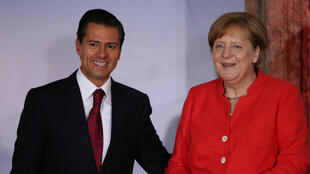 Enrique Pena Nieto et Angela Merkel ce 10 juin 2017 à Mexico.
