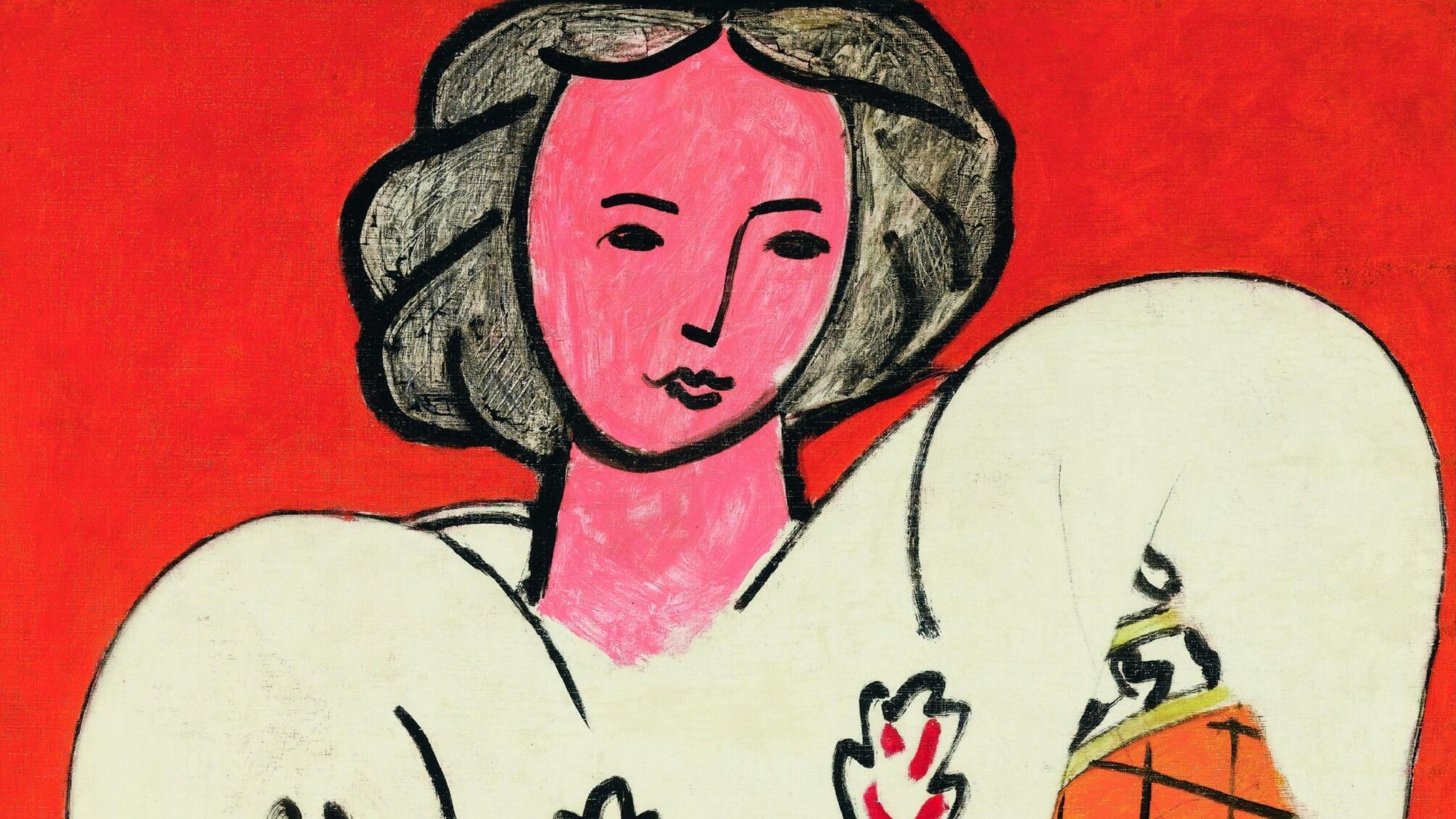 亨利·马蒂斯(Henri Matisse),《罗马尼亚衬衫》,1940年,布面油画,92 x 73厘米。 蓬皮杜艺术中心,国家现代艺术博物馆馆藏。1953年,艺术家将这幅画遗赠给国家。