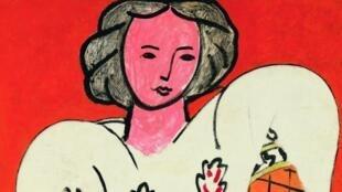 亨利·馬蒂斯(Henri Matisse),《羅馬尼亞襯衫》,1940年,布面油畫,92 x 73厘米。 蓬皮杜藝術中心,國家現代藝術博物館館藏。1953年,藝術家將這幅畫遺贈給國家。