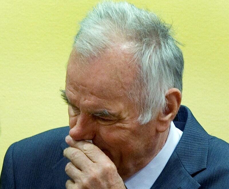 Младич в гаагском суде, 16 мая 2012