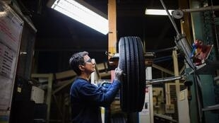 An employee of French tyre maker Michelin