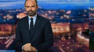 Edouard Philippe primeiro-ministro francês, na TFI a 7 de Janeiro de 2019.