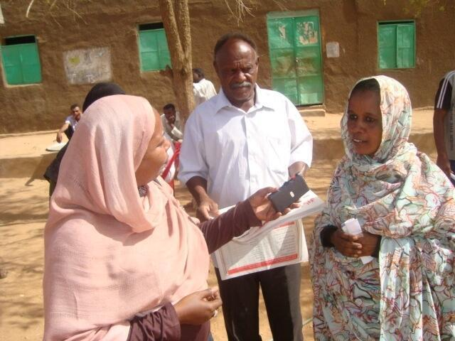 Journalist Mona Al-Bashir in an interview