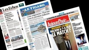 A imprensa francesa destaca hoje os desafios políticos na Europa e as reformas que a França vem fazendo para se aproximar da Alemanha em competitividade econômica.