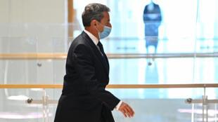 El expresidente francés Nicolas Sarkozy, en el tribunal de París, el 1 de marzo de 2021