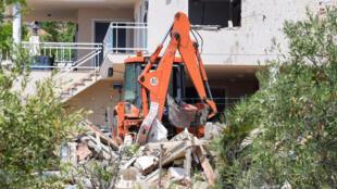 La maison d'Alcanar, soufflée par une explosion mercredi soir, au sud de Barcelone: elle aurait servi de point de rencontre pour la cellule jihadiste et de lieu de préparation des attentats, le 20 août 2017.
