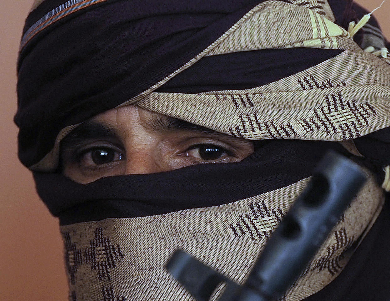 Um combatente talibã.