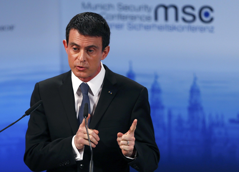 Французский премьер-министр Вальс в ходе выступления на мюнхенской конференции по безопасности