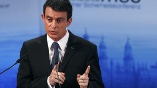 French Prime Minister Valls delivers a speech at the Munich Security Conference on Saturday.
