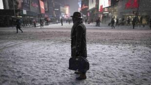 Neve em Times Square, Nova York