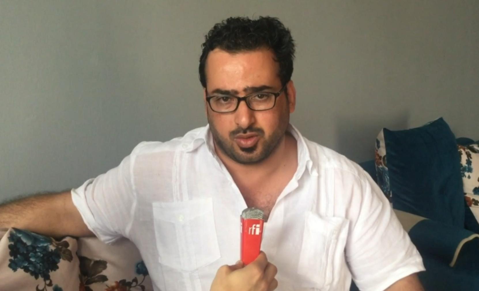 Le journaliste irakien Muntadhar Al Zaïdi reçoit RFI chez lui à Baghdad