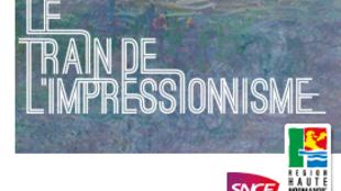 """Cartaz de divulgação do """"trem do impresionismo""""."""