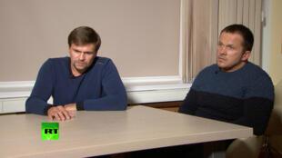 Hai nhân vật tình nghi trong vụ án Skripal trả lời phỏng vấn kênh truyền hình RT, ngày 13/09/2018.