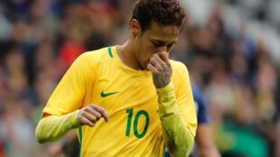 Neymar durante amistoso contra o Japão em 10 de novembro de 2017.
