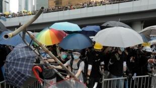 Masu zanga-zanga a Hong-Kong