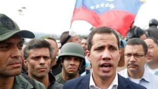 委内瑞拉临时总统瓜伊多资料图片