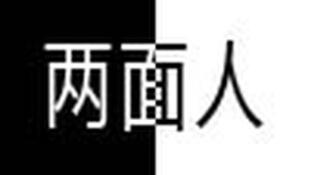 图为中国网络关于两面人报道配图