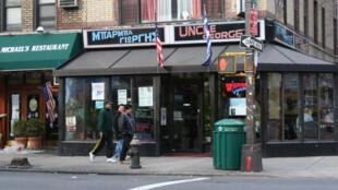 Une rue d'Astoria (Queens), dans le quartier de «Little Greece», à New York.