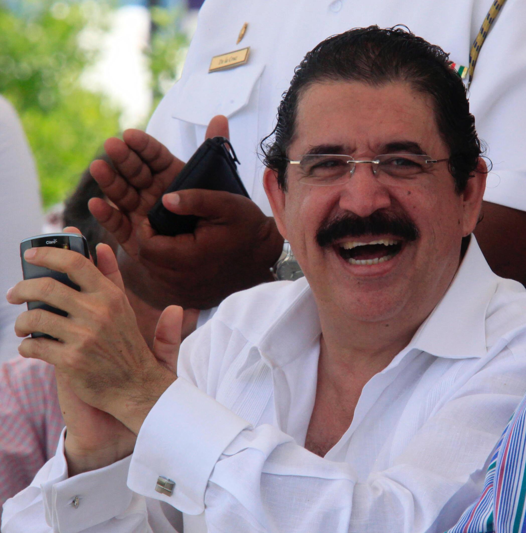 O presidente deposto de Honduras, Manuel Zelaya.