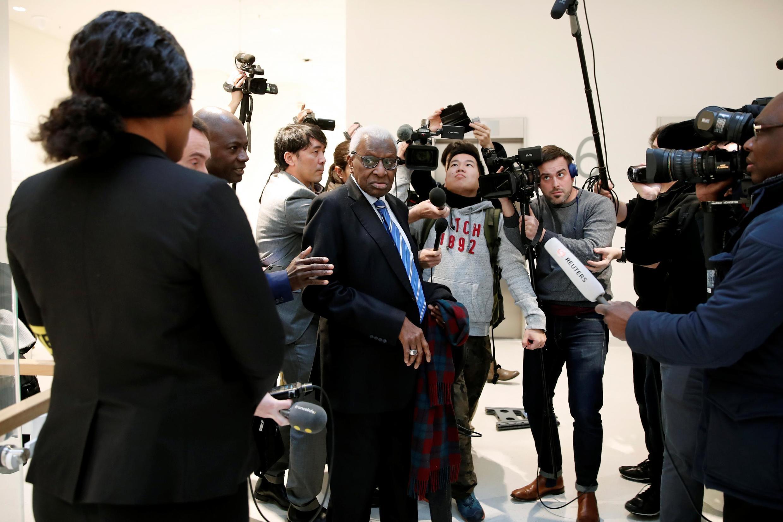 Экс-глава IAAF Ламин Диак в парижском дворце правосудия. 13.01.2020