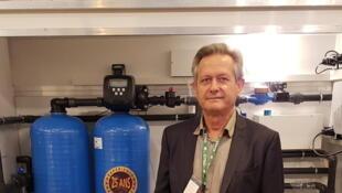 Claude Mésuré de la société Aqua Phyto basée à Chinon, en France.