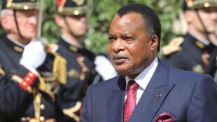 Rais wa Congo Brazzaville Sassou-Nguesso..