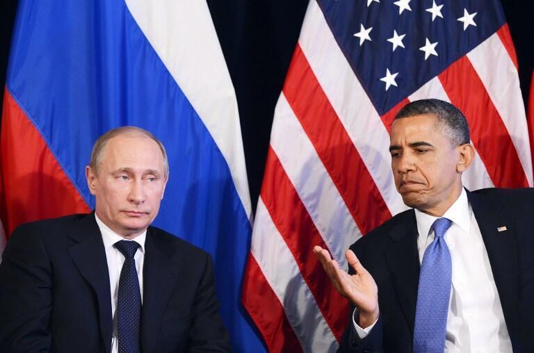 Barack Obama na Vladimir Putin, mwaka 2012, Mexico.