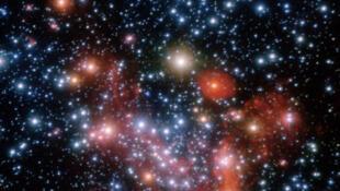 Vue du centre de la Voie lactée.