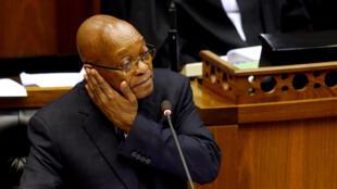 Le président Jacob Zuma lors de son intervention au Parlement au Cap, le 31 mai 2017.
