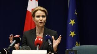 Премьер-министр Дании, Хелле Торниг-Шмитт, пресс-конференция в Брюсселе