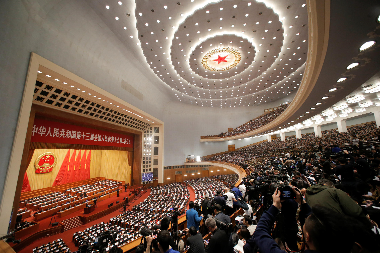 Três mil delegados estão reunidos para participar da sessão anual do Parlamento chinês.