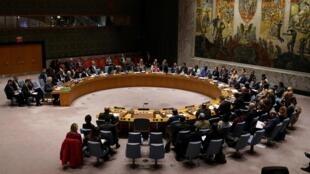 Le Conseil de sécurité des Nations unies réuni au siège de l'organisation à New York, le 28 février 2020.