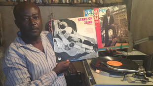 Saint Paul record store owner and manager Ntchagna Paul owns up to 5,000 vinyl records of numerous music genres, in his shop in Douala, Cameroon.