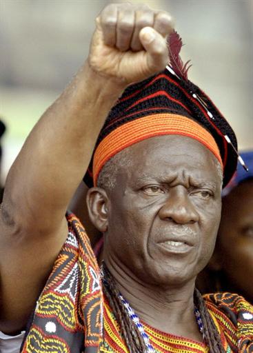 L'opposant John Fru Ndi, leader du Social Democratic Front.