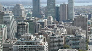 Vue aérienne de la ville de Montréal.