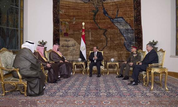 ملاقات رییس جمهوری مصر، عبدالفتاح السیسی و وزیر دفاع عربستان، محمدبن سلمان بن عبدالعزیز