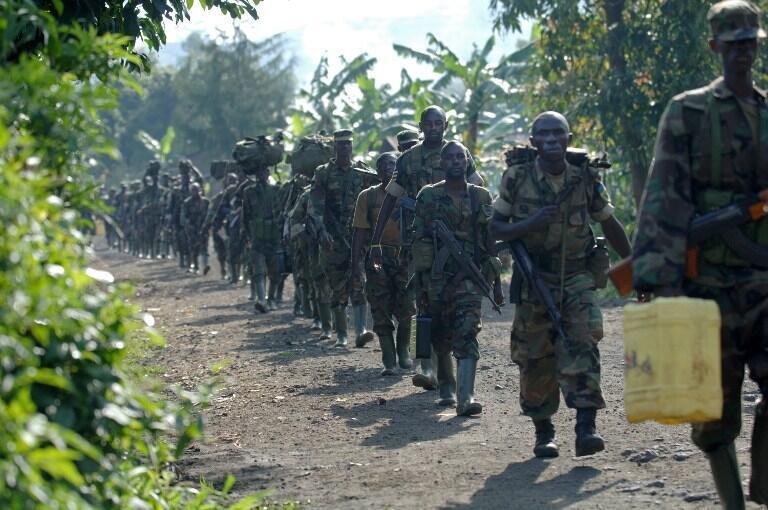 Des soldats rwandais près de Jomba, en RDC, le 24 janvier 2009. (Image d'illustration)