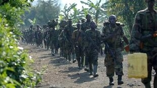 Des soldats rwandais près de Jomba, en RDC, le 24 janvier 2009 (image d'illustration).
