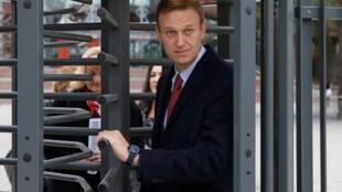 Алексей Навальный перед слушанием ЕСПЧ в Страсбурге.  15 ноября 2018 г.