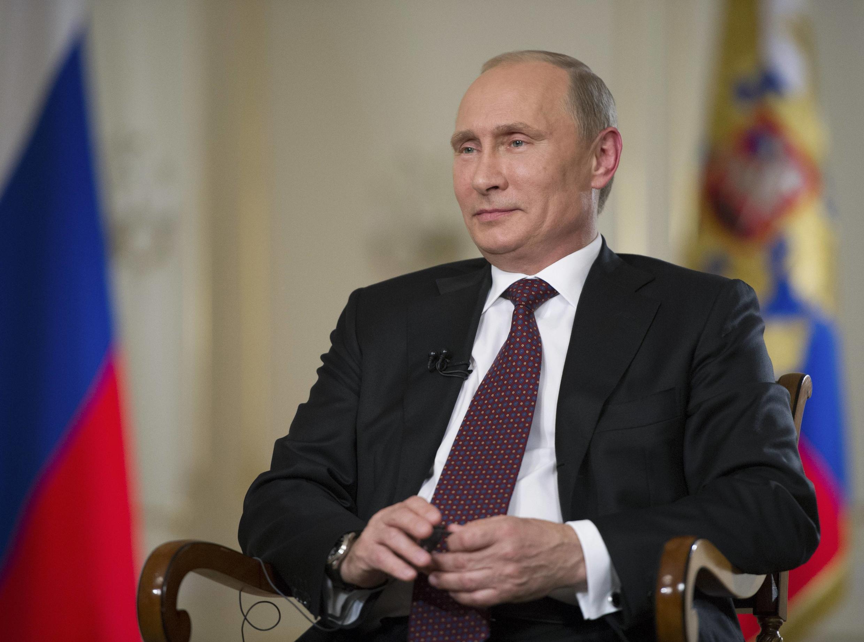 Tổng thống Nga Vladimir Putin trong cuộc trả lời phỏng vấn AP tại ngoại ô Matxcơva, ngày 03/09/2013