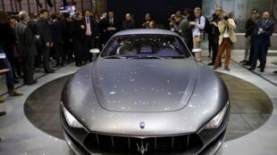 La nouvelle Maserati Alfieri, présentée au 84e Salon de l'automobile de Génève, le 4 mars 2014.