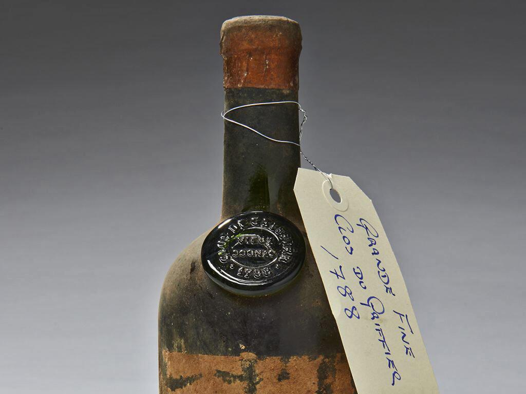 Cognac de 1788, de las bodegas de la Tour d'Argent.