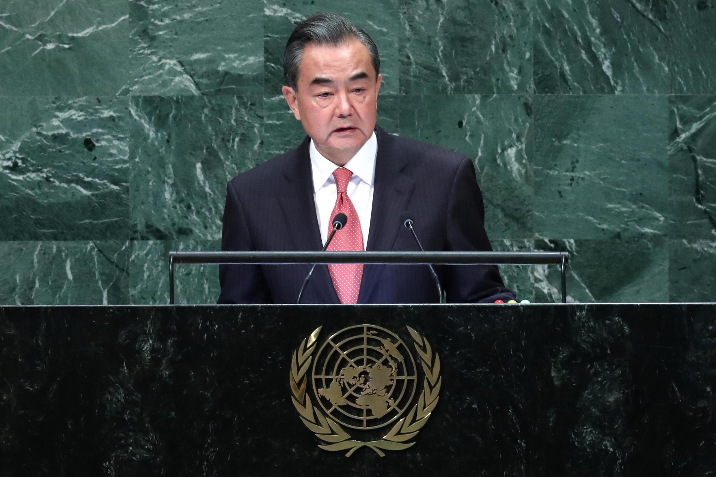 資料圖片:中國外長王毅。2018年9月28日攝於紐約聯合國大會。