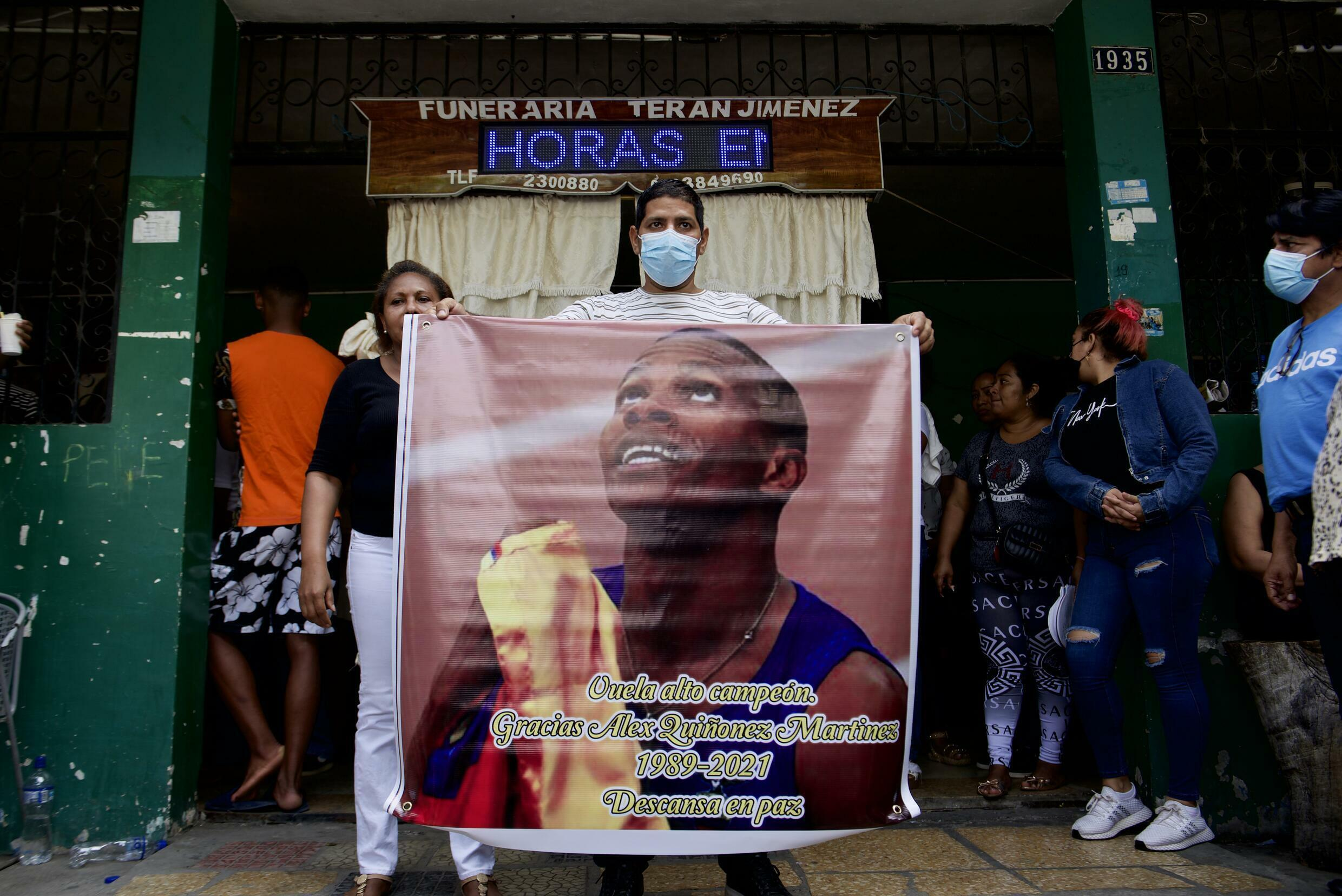 Ecuadorian Olympic sprinter Alex Quiñonez, 32, was killed in the port city of Guayaquil on Friday night