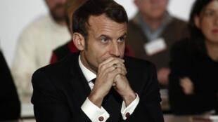 Le president français Emmanuel Macron.