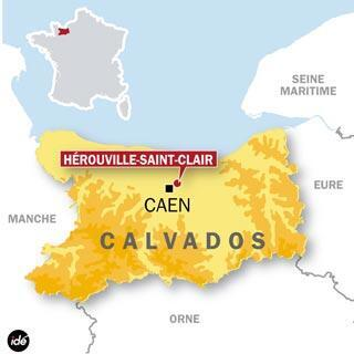 The construction site of a mosque near the city of Caen was found vandalised on Wednesday.