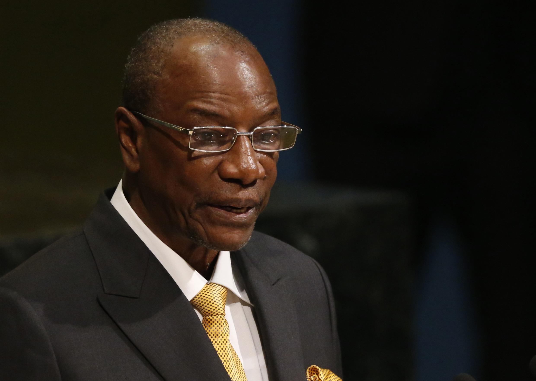 mwenyekiti wa Umoja wa Afrika ambae pia ni rais wa Guinea Conakry Alpha Conde