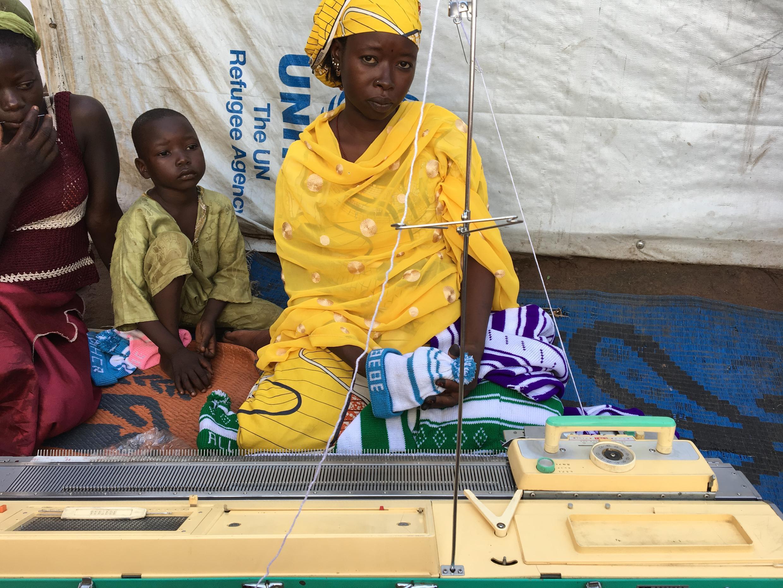 Ashta Aboubakar, 27, from Bocaranga, CAR, lives in Diba1 refugee site, near Baibokoum, southern Chad