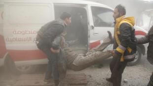 Sama da mutane 100 sun mutu cikin kwanaki biyu a yankin gabashin Ghouta da ke Syria