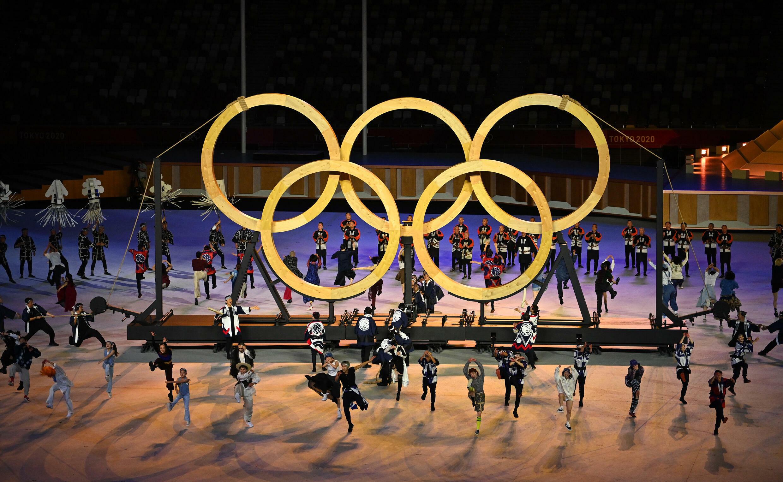 Cérémonie d'ouverture des Jeux olympiques 2020 dans le stade Olympique de Tokyo. 23 juillet 2021.